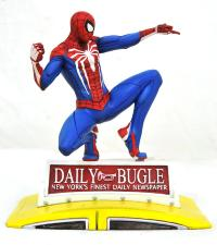 MARVEL GALLERY - SPIDER-MAN ON TAXI - DIORAMA 23CM